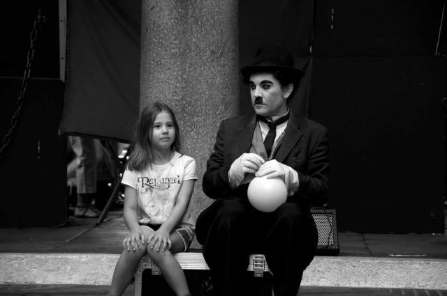Charlie Chaplin street performer