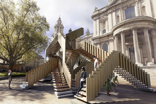 Endless Stair at the London Design Festival. Image by Cityscape