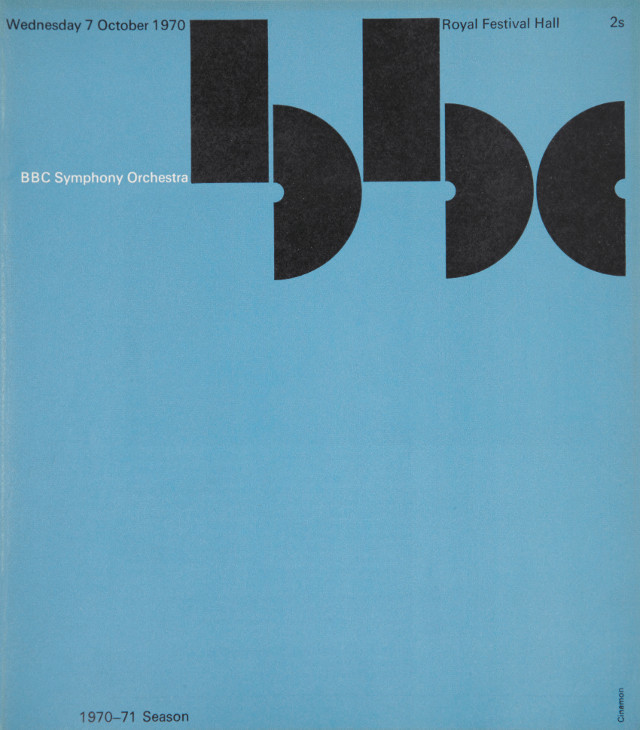 BBC Symphony Orchestra Programme Cover, 1970