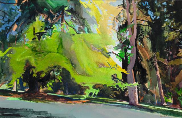 Bob Rudd, Summer Trees. Image courtesy Mall Galleries.