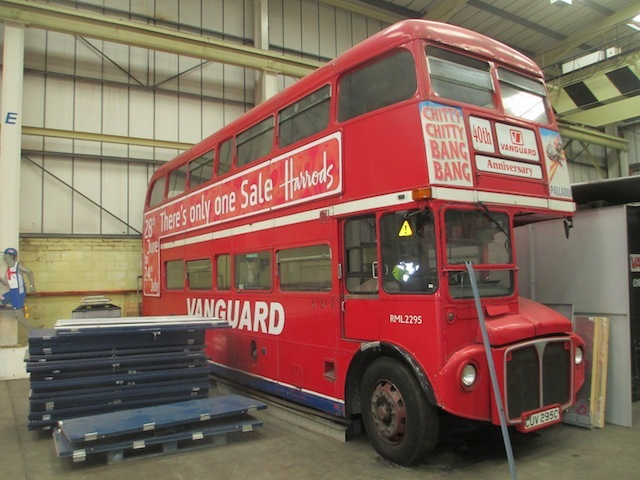 Routemaster in storage.