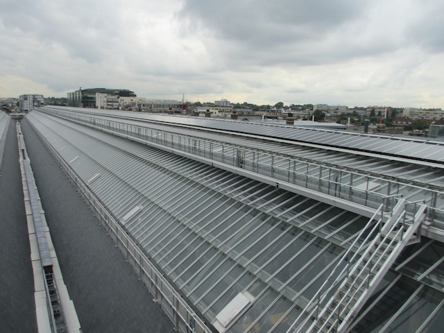 King's Cross roof, looking north-east towards Cally Road.