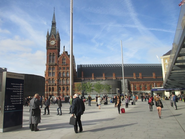 The view towards St Pancras.
