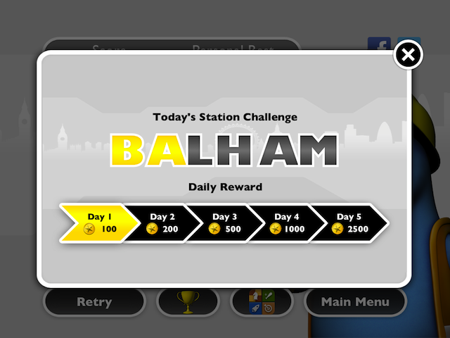A daily station challenge gets you coming back for more coins.