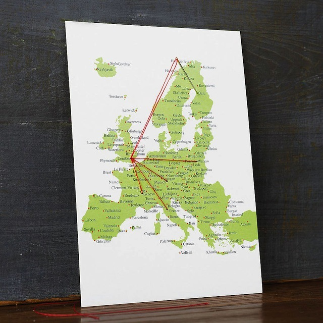 ... a stitch-a-map postcard