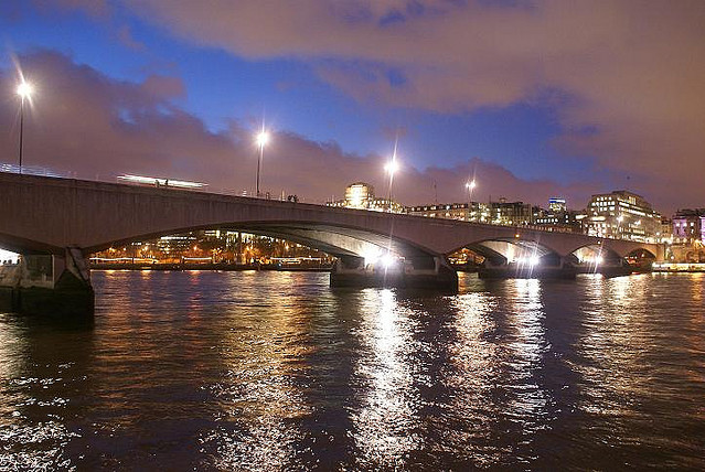 Waterloo Bridge at Night by Justin Bailey