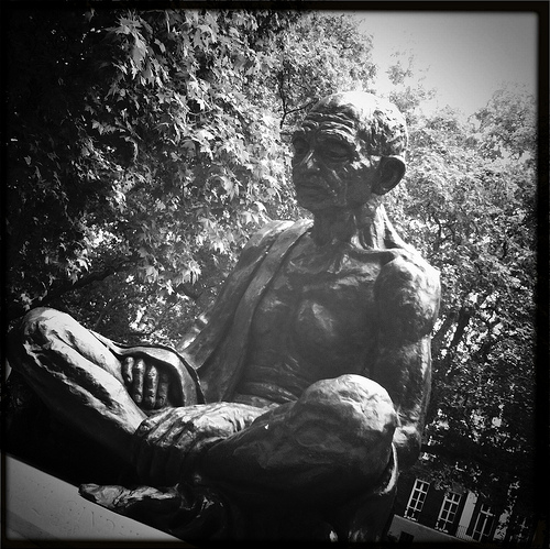 Ghandi Statue, Tavistock Square by Stuart Sunley