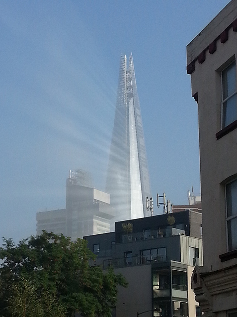 Even The Shard is getting in on the beamy action. Photo by Tanya Holland