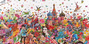Ye Hongxing's Art Made From Stickers Takes Us East Of Eden
