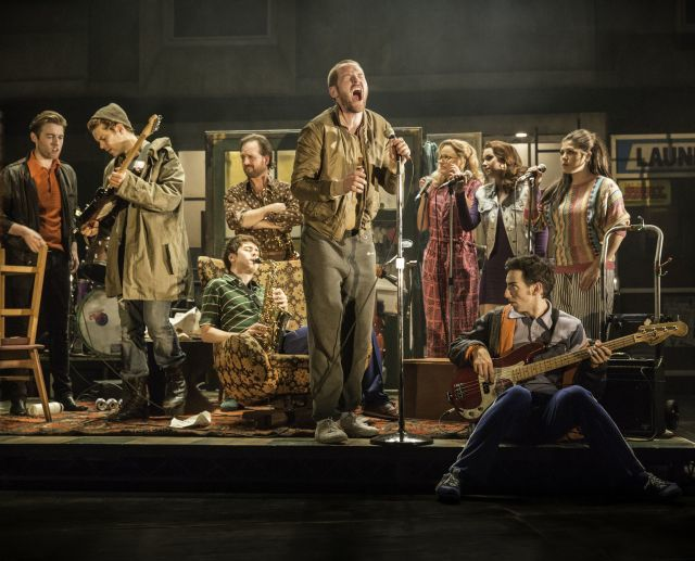 THE COMMITMENTS by Doyle,       , Writer - Roddy Doyle,   Director - Jamie Lloyd, Designer - Soutra Gilmour, Lighting - Jon Clark, Palace Theatre, London , 2013, Credit: Johan Persson/