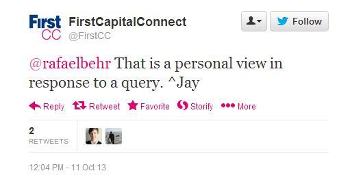 That is a personal view in response to a query. ^Jay