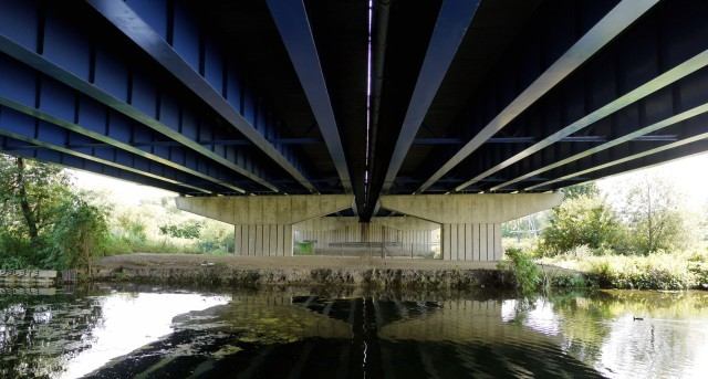 Underneath M25 bridge