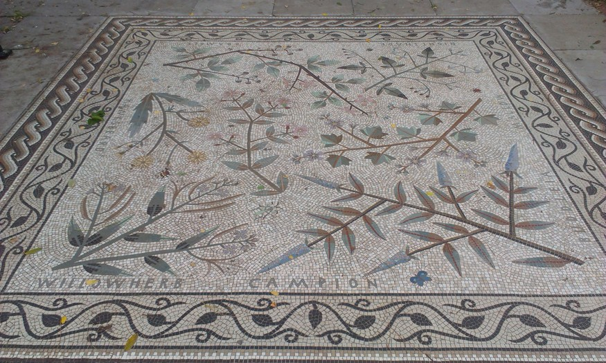 Pavement mosaic panel