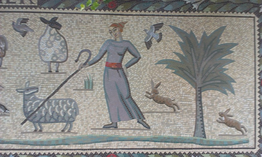 Shepherdess panel (detail)