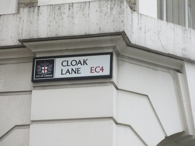 Cloak Lane in the City, round the corner from...