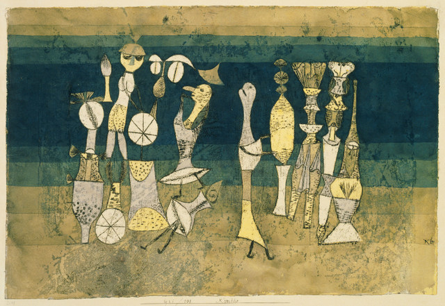 Paul Klee, Comedy, 1921. Tate. Purchased 1946