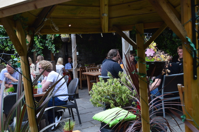 The 'hidden' beer garden is discovered by many.