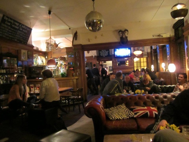 Sorry about the shaky camera-work. This was the last pub on the crawl, and our hands were less than steady.