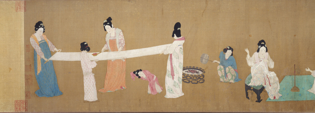 Court Ladies Preparing Newly Woven Silk(Detail)  Possibly Emperor Huizong  Early 12th century Photograph © 2013 Museum of Fine Arts, Boston