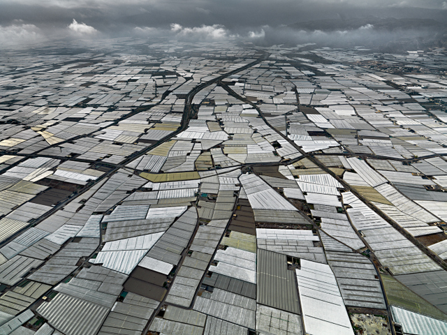 Greenhouses, Almira Peninsula, Spain, 2010. Copyright Edward Burtynsky, courtesy Flowers London