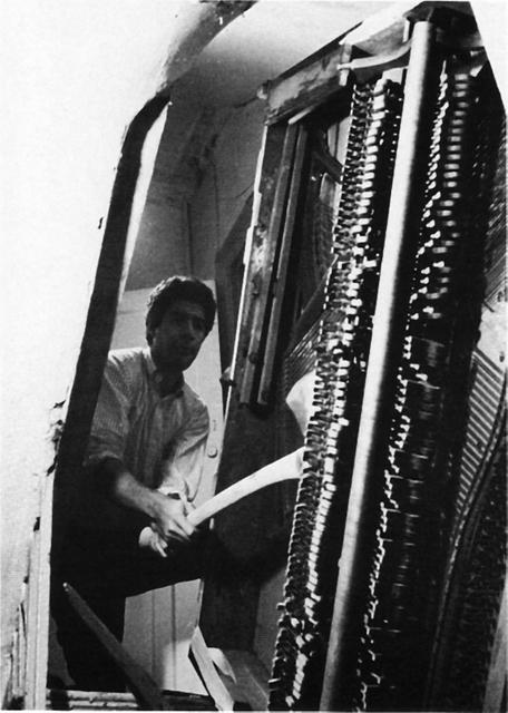 Duncan Terrace Piano Destruction Concert 1966. Raphael Montañez Ortiz (b.1934) Photograph by John Prosser