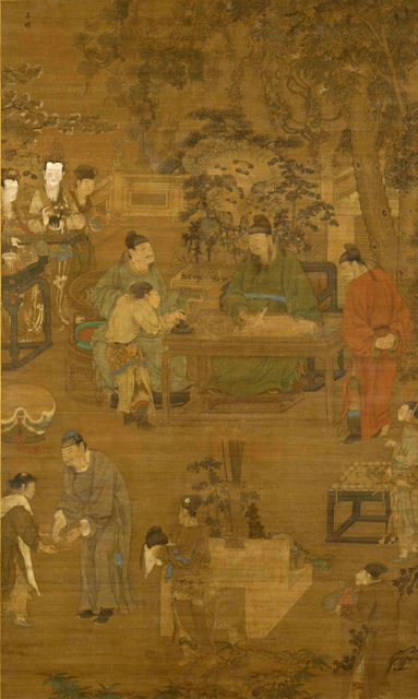 The Four Pleasures: Music, Chess, Calligraphy and Painting (Detail)  Unidentified artist; traditionally attributed to Ren Renfa Early 15th century  Tokyo National Museum, Japan, Image: TNM Image Archives