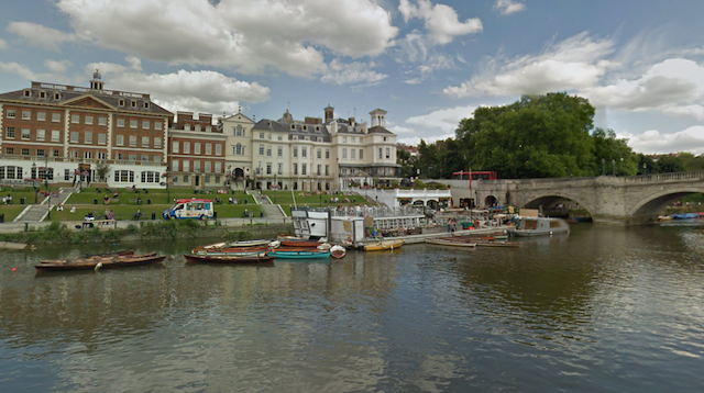 Journey's end: the river view goes no further than Richmond Bridge.