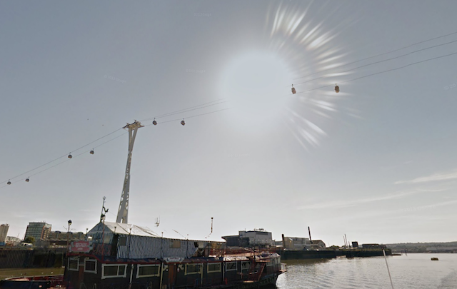 An interesting solar effect near the cable car.