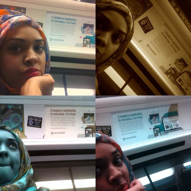 Soniia Chowdhury confident montage on the Victoria Line