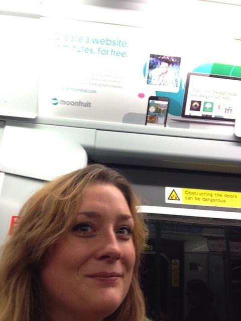 Sophia Kearney braved the rush hour rush for this selfie