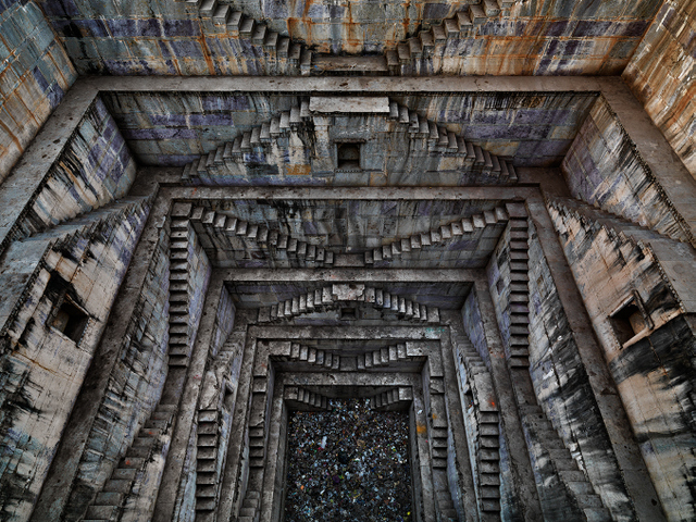 Step-well #4, Sagar Kund Baori, Bundi, Rajasthan, India, 2010. Copyright Edward Burtynsky, courtesy Flowers London