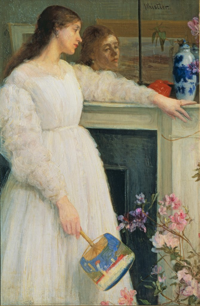 James Abbott McNeill Whistler, Symphony in White No. 2: The Little White Girl. Image courtesy Tate, London.