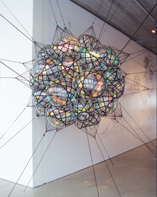 Tomas Saraceno, Flying Garden Airport City. Image courtesy the artist and Dairy Art Centre.
