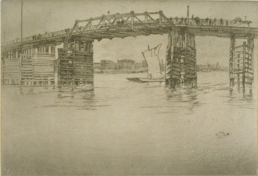 James Abbott McNeill Whistler, Old Battersea Bridge. Image courtesy University of Michigan Museum of Art.
