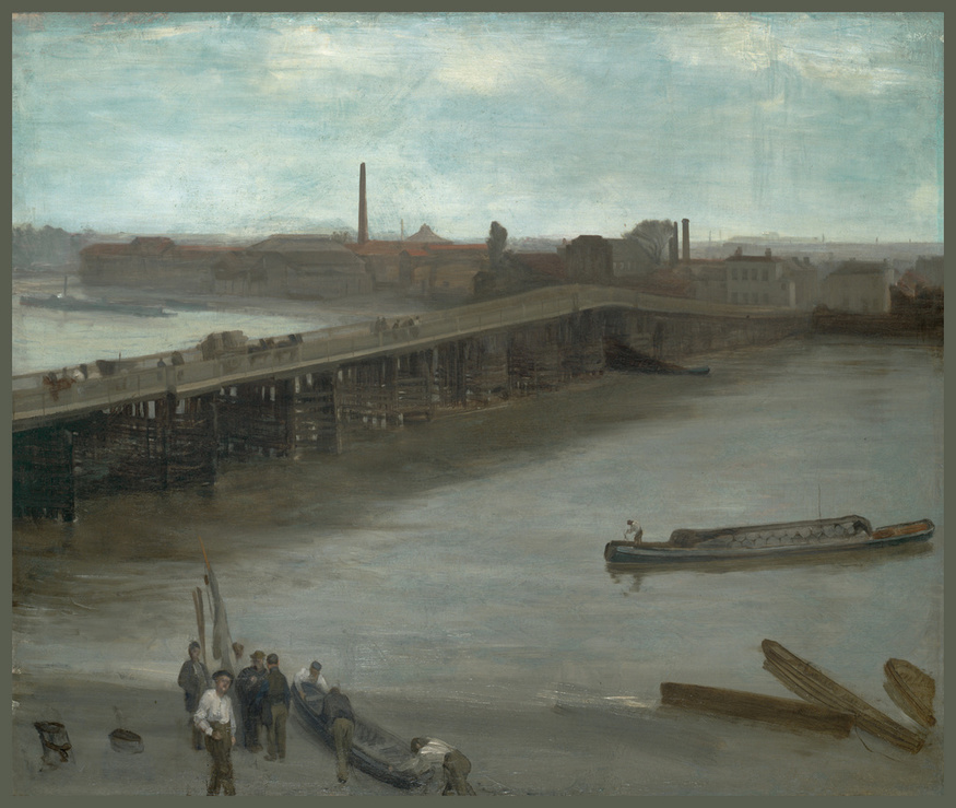 James Abbott McNeill Whistler, Brown and Silver: Old Battersea Bridge. Image courtesy  Addison Gallery of American Art, Andover.