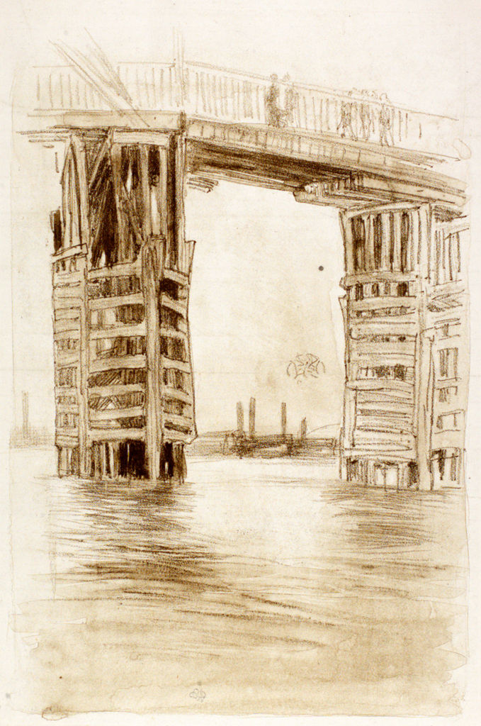 James Abbott McNeill Whistler,The Tall Bridge. Image courtesy The Hunterian, Glasgow.
