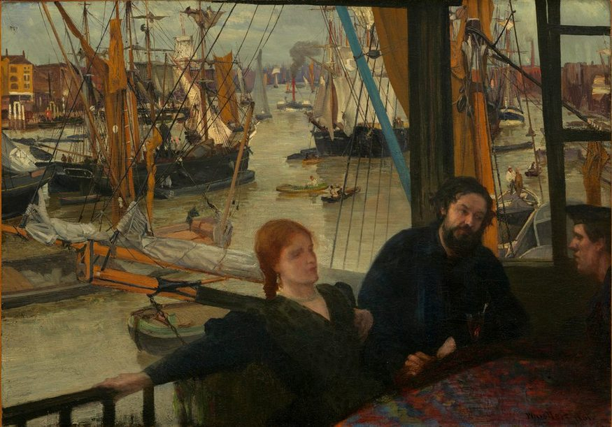 James Abbott McNeill Whistler, Wapping. Image courtesy National Gallery of Art, Washington D.C.