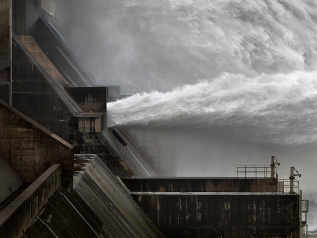 Xiaolangdi Dam #1, Yellow River, Henan Province, China, 2011. Copyright Edward Burtynsky, courtesy Flowers London