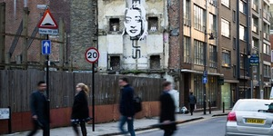 Zaha Hadid's Head Floating In Clerkenwell