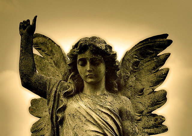 One of many Weeping Angels in London. This one's in Kensal Green cemetery by Wurzeltod in the Londonist Flickr pool.