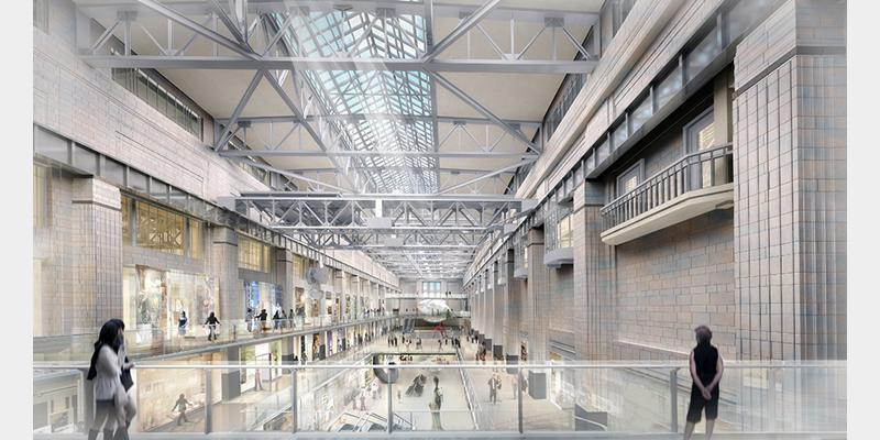 View of the unobstructed turbine hall