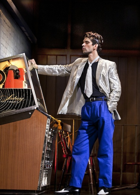 Ben Whishaw (Baby) in Mojo at the Harold Pinter Theatre. Photo credit Simon Annand