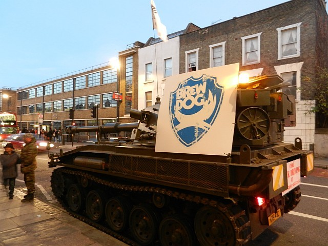 The Brewdog tank drums up some publicity.