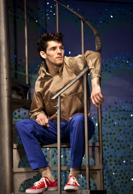 Colin Morgan (Skinny) in Mojo at the Harold Pinter Theatre. Photo credit Simon Annand