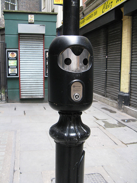 After their defeat, the Cybermen were put to use on the streets of London as cigarette stubby outy things. Image by Simon Webster under Creative Commons.