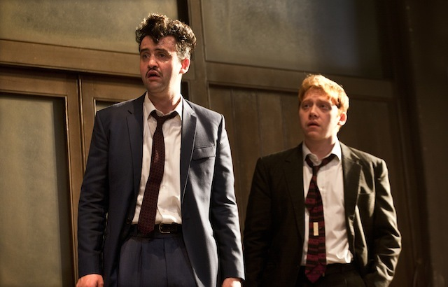 Daniel Mays (Potts) and Rupert Grint (Sweets) in Mojo. Photo credit Simon Annand