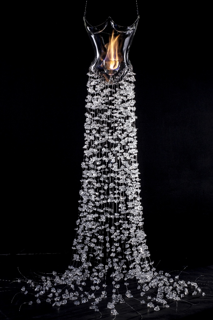 Helen Storey, The Dress of Glass  In collaboration with The Royal Society of Chemistry, London College of Fashion, Helen Storey Foundation and University of Sheffield and FlamePyrex Glass