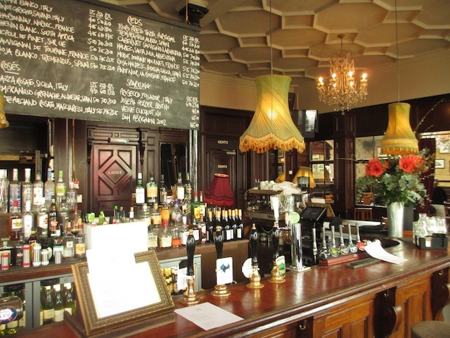 The main bar. Fans of lampshades will be wetting themselves.