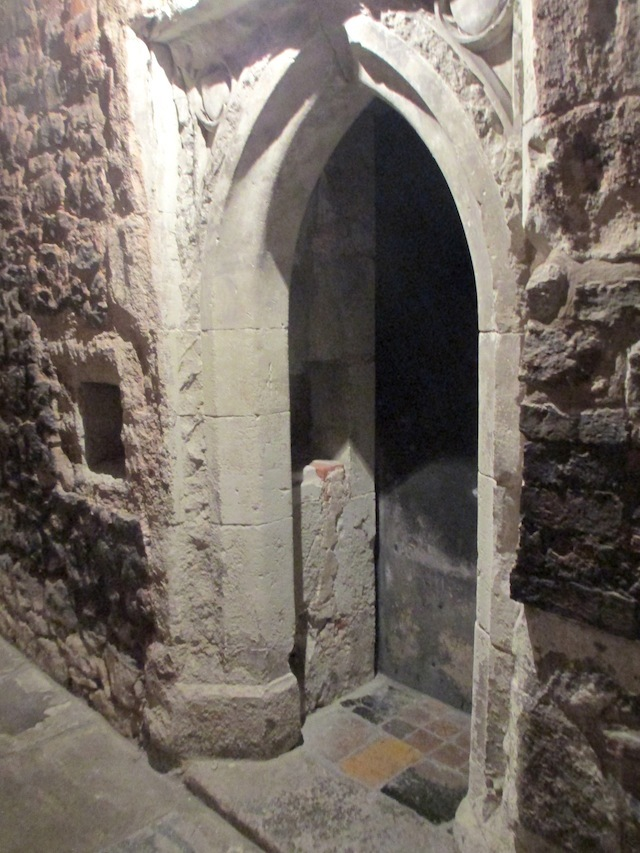 One of the oldest survivals at Charterhouse is this monk's cell entrance from 1371. It's located in the Norfolk Cloister.