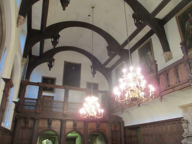 Inside the Great Hall, used as a refectory for the Brothers who live at Charterhouse.